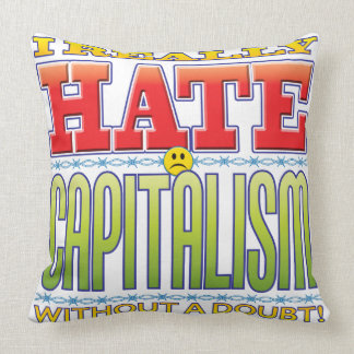 Capitalism Hate Face Throw Pillows