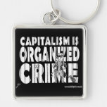Capitalism is Organized Crime Keychains