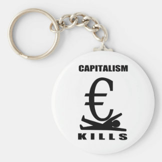 Capitalism Kills Basic Round Button Keychain