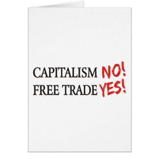 Capitalism NO! Card
