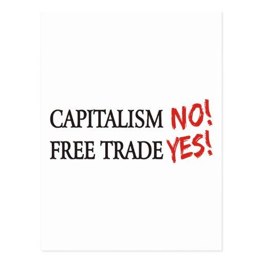 Capitalism NO! Postcard
