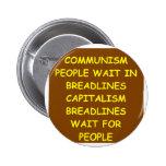 capitalism pinback button