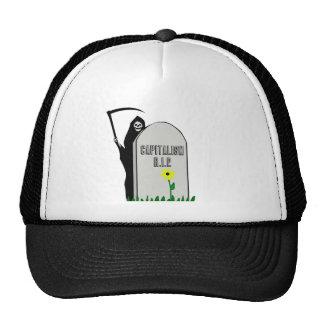 Capitalism R.I.P. Gravestone with Grim Reaper Trucker Hat