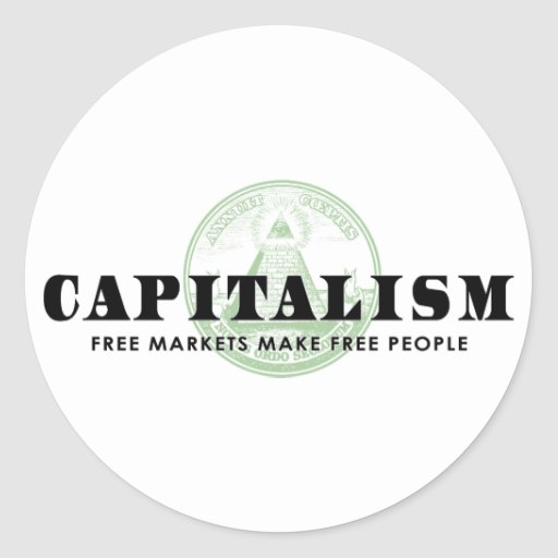 Capitalism Round Stickers