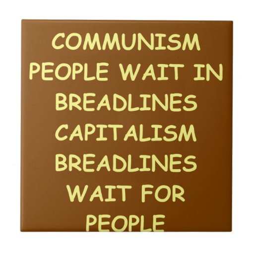 capitalism small square tile