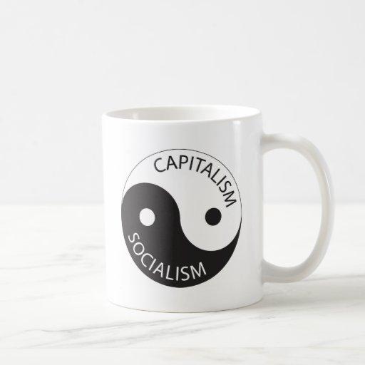 Capitalism, Socialism; Yin, Yang Classic White Coffee Mug