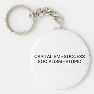 CAPITALISM=SUCCESS SOCIALISM=STUPID KEYCHAIN