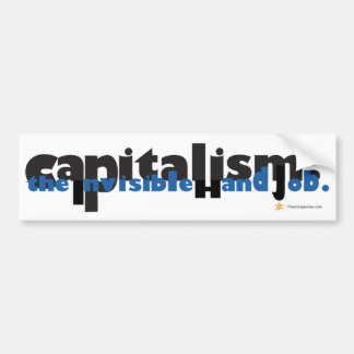 Capitalism: The Invisible Hand Job Car Bumper Sticker