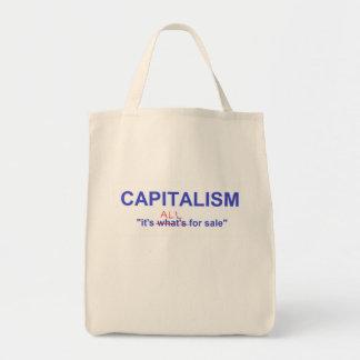 capitalism tote grocery tote bag