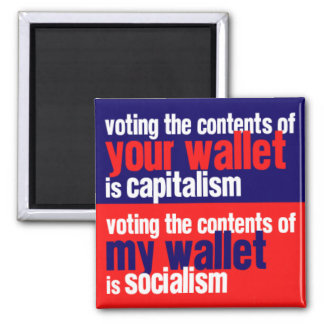 Capitalism vs Socialism Magnet