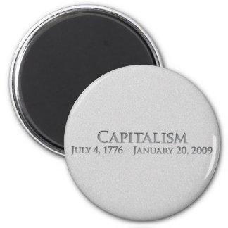 Capitalismo 4 de julio de 1776 - 20 de enero de 20 imán redondo 5 cm