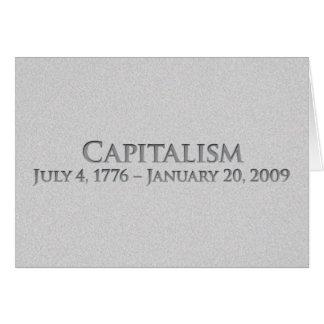 Capitalismo 4 de julio de 1776 - 20 de enero de 20 tarjeta de felicitación