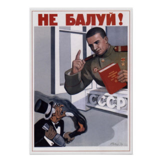 Capitalismo anti 1948 de URSS Unión Soviética Poster
