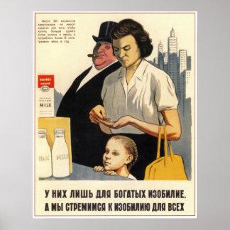 Capitalismo anti 1957 de URSS Unión Soviética Impresiones