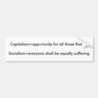 Capitalismo contra socialismo pegatina para auto
