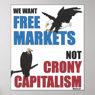 Capitalismo de camarada de los mercados libres no póster