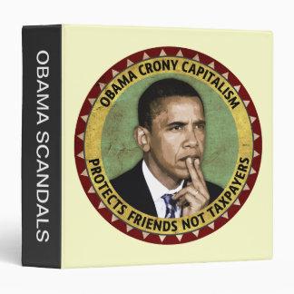 """Capitalismo de camarada de Obama Carpeta 1 1/2"""""""