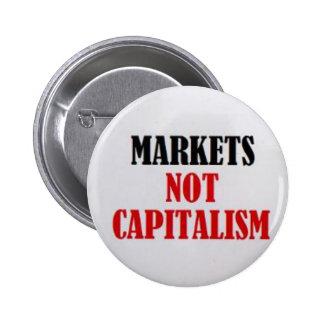 Capitalismo de los mercados no pin redondo de 2 pulgadas