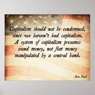 Capitalismo de Ron Paul Poster