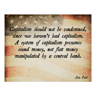 Capitalismo de Ron Paul Póster