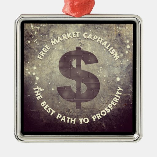 Capitalismo del mercado libre adornos de navidad
