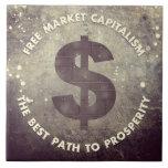 Capitalismo del mercado libre azulejo cerámica