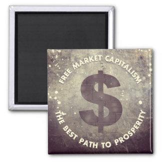 Capitalismo del mercado libre iman de nevera