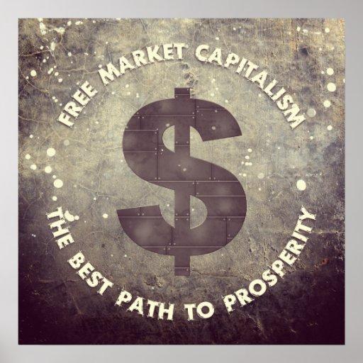 Capitalismo del mercado libre impresiones