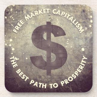 Capitalismo del mercado libre posavasos de bebidas