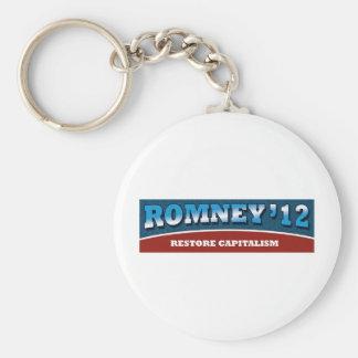 Capitalismo del restablecimiento de Romney- Llavero Redondo Tipo Pin