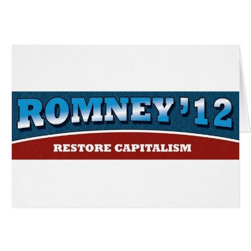 Capitalismo del restablecimiento de Romney- Tarjeta De Felicitación