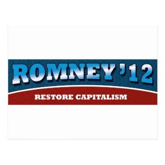 Capitalismo del restablecimiento de Romney- Tarjetas Postales