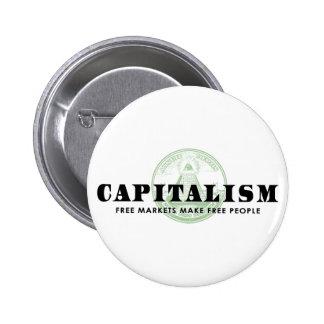 Capitalismo Pin Redondo De 2 Pulgadas
