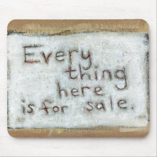 Capitalismo que pinta arte moderno de la diversión tapete de raton