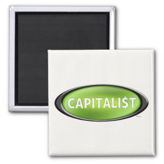 Capitalist 2 Inch Square Magnet