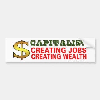 Capitalist Bumper Sticker Car Bumper Sticker