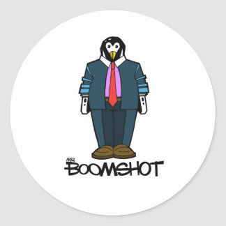 Capitalist Penguin Classic Round Sticker