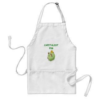 capitalist pig adult apron