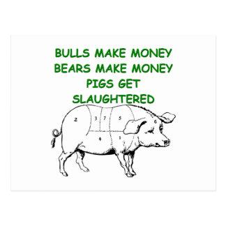 capitalist pig joke post cards