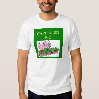 capitalist pig money joke tee shirt