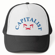 Capitalist Pig with $ Trucker Hat