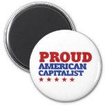 Capitalista americano orgulloso imanes de nevera