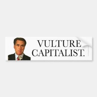 Capitalista Anti-Romney del buitre del pegatina Pegatina Para Auto