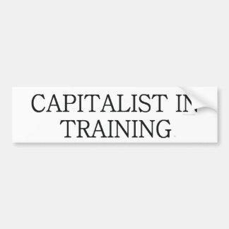 Capitalista de la CAMISETA en el entrenamiento Pegatina De Parachoque