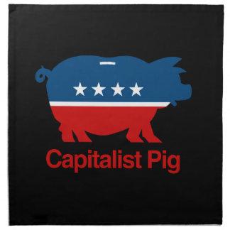 Capitalista Pig.png Servilleta Imprimida