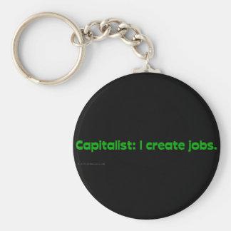 Capitalists create jobs keychain