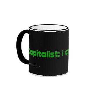 Capitalists create jobs ringer mug
