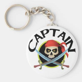 capitán 3D Llavero Redondo Tipo Pin