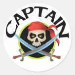 capitán 3D Pegatina