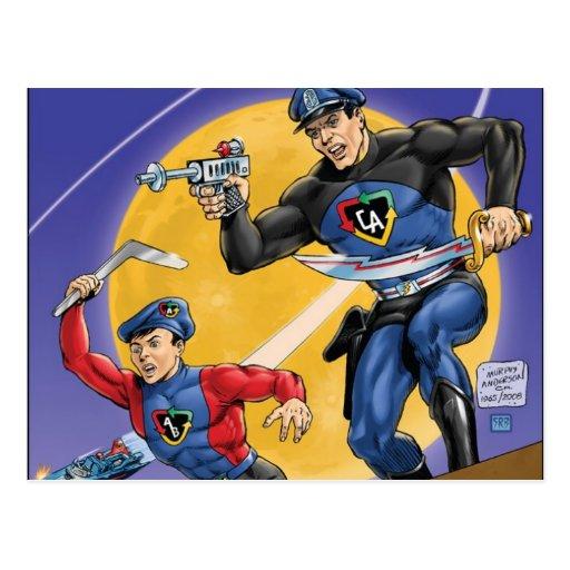 Capitán Action Classic Tarjeta Postal